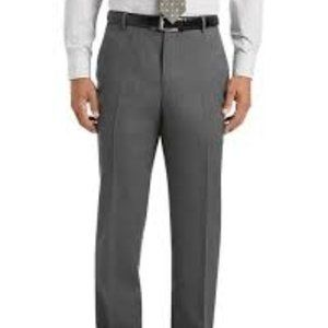 NWT Gray Gabardine Dress Slacks By Haggar 38/32